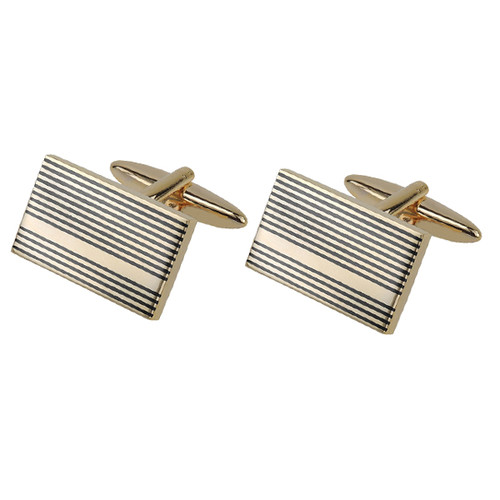 Gemelos - Gold Gunmetal Stripes (1)